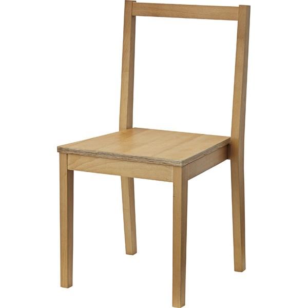 単品 スタッキングチェア (イス 椅子) (数量1) ナチュラル