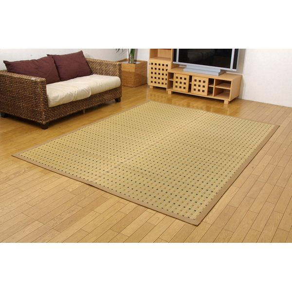 【送料無料】日本製 掛川織 い草カーペット 『スウィート』 江戸間4.5畳(約261×261cm)