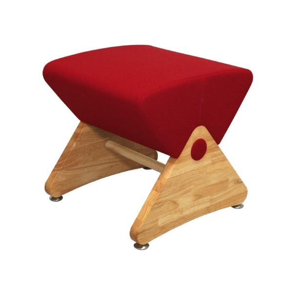 デザイナーズスツール イス バーチェア 椅子 カウンターチェア アジャスター付き クリア(布:レッド/ABS)【Mona.Dee】モナディー WAS01S 赤