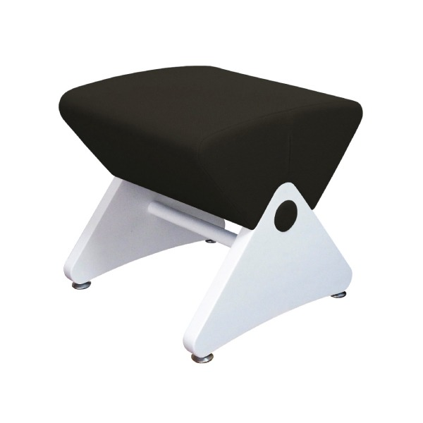 デザイナーズスツール イス バーチェア 椅子 カウンターチェア アジャスター付き ホワイト(布:ブラック/ABS)【Mona.Dee】モナディー WAS01S 白 黒