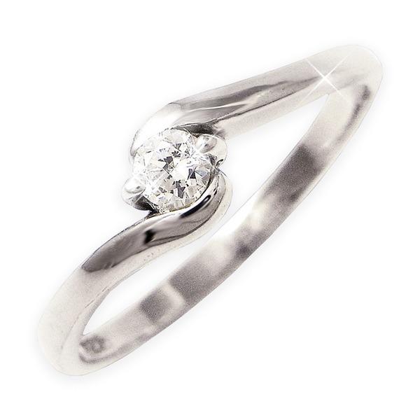 ダイヤリング 指輪Sラインリング 19号