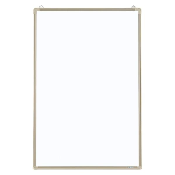 クラウン ホワイトボード壁掛 リバーホーロー製・アルミ枠 縦型 CR-WB32 1枚 白