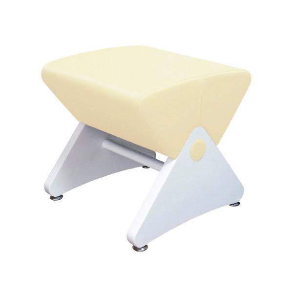 デザイナーズスツール イス バーチェア 椅子 カウンターチェア アジャスター付き ホワイト(ビニールレザー:アイボリー/ABS)【Mona.Dee】モナディー WAS01S 白 乳白色