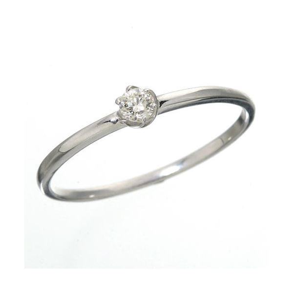K18 ダイヤリング 指輪 シューリング ホワイトゴールド 7号 白