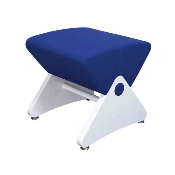 デザイナーズスツール イス バーチェア 椅子 カウンターチェア アジャスター付き ホワイト(布:ブルー/PU)【Mona.Dee】モナディー WAS01S 白 青