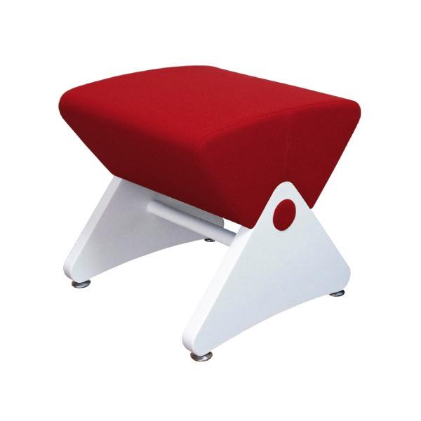 デザイナーズスツール イス バーチェア 椅子 カウンターチェア アジャスター付き ホワイト(布:レッド/PU)【Mona.Dee】モナディー WAS01S 白 赤