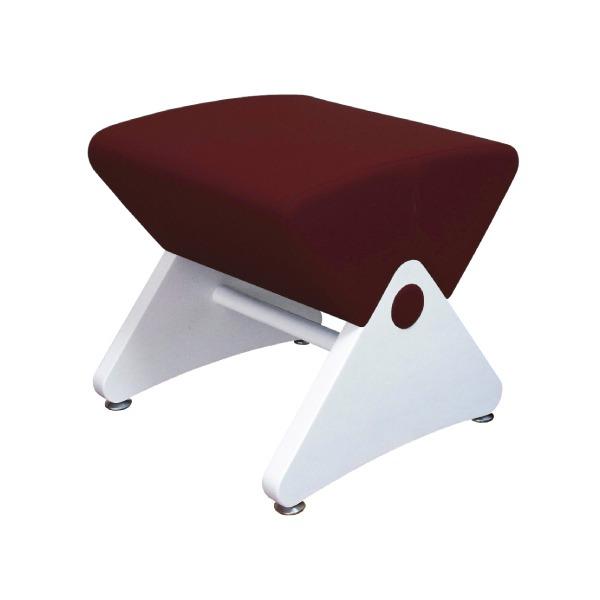 デザイナーズスツール イス バーチェア 椅子 カウンターチェア アジャスター付き ホワイト(布:ワインレッド/PU)【Mona.Dee】モナディー WAS01S 白 赤
