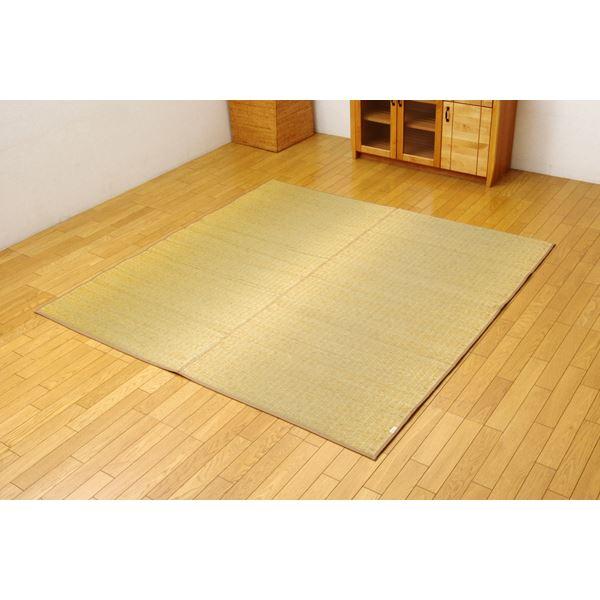 【送料無料】 無地カラーい草ラグカーペット 『Fプラード』 ベージュ 190×250cm
