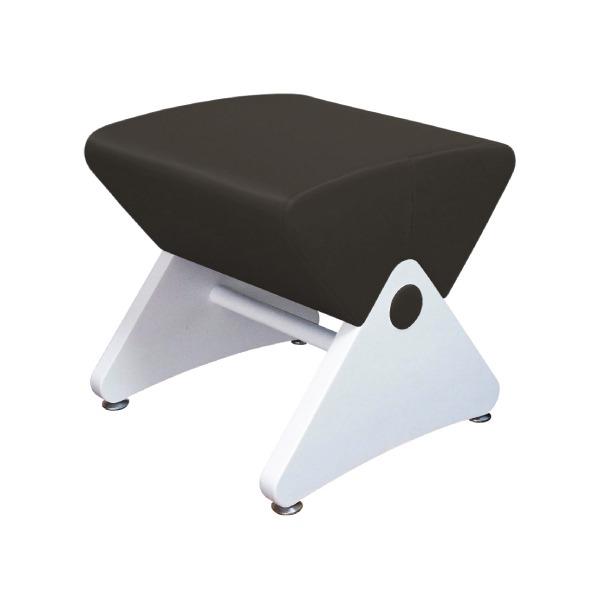 デザイナーズスツール イス バーチェア 椅子 カウンターチェア アジャスター付き ホワイト(ビニールレザー:ブラック/PU)【Mona.Dee】モナディー WAS01S 白 黒