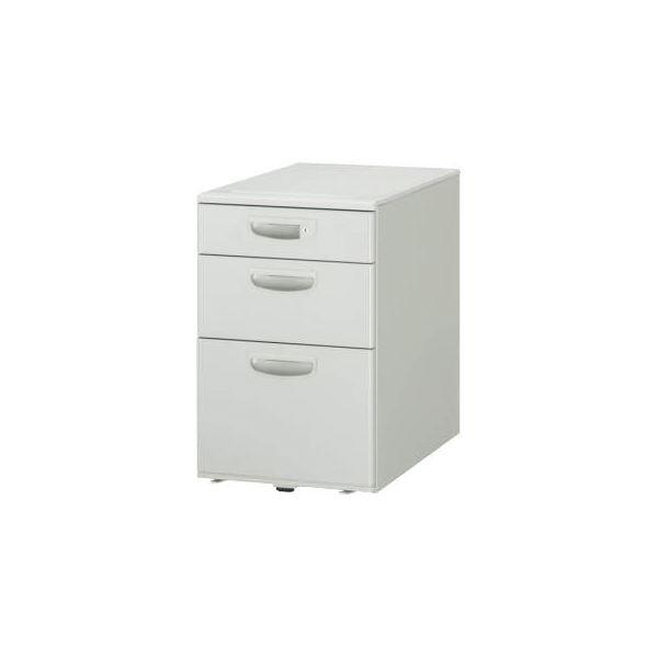デスク (テーブル 机) 整理 収納 サイドワゴン キャスター付 移動可能 車輪付き き 3段 ED-043AS