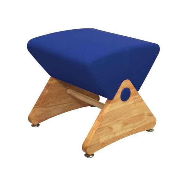 デザイナーズスツール イス バーチェア 椅子 カウンターチェア アジャスター付き クリア(布:ブルー/PU)【Mona.Dee】モナディー WAS01S 青