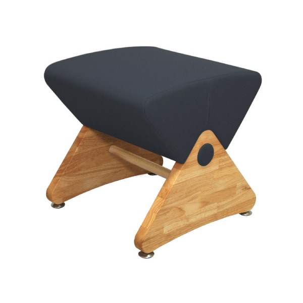 デザイナーズスツール イス バーチェア 椅子 カウンターチェア アジャスター付き クリア(布:ネイビー/PU)【Mona.Dee】モナディー WAS01S