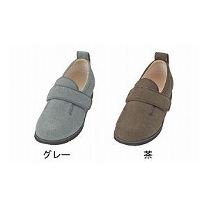 介護靴 施設・院内用 ダブルマジック2ヘリンボン 9E ワイドサイズ7025 両足 徳武産業 あゆみシリーズ4L26 0~26 5cmグレーrdeQBWECxo