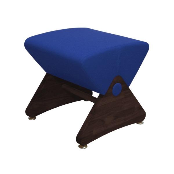 デザイナーズスツール イス バーチェア 椅子 カウンターチェア アジャスター付き ダーク(布:ブルー/PU)【Mona.Dee】モナディー WAS01S 青