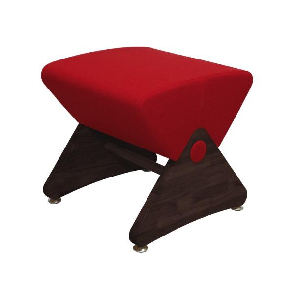 デザイナーズスツール イス バーチェア 椅子 カウンターチェア アジャスター付き ダーク(布:レッド/PU)【Mona.Dee】モナディー WAS01S 赤