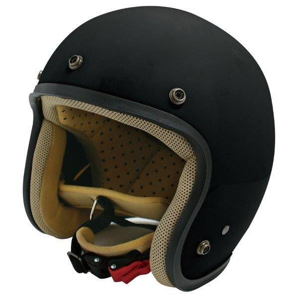 ダムトラックス(DAMMTRAX) ジェットヘルメット ジェット-D マットブラック レディース (57cm~58cm)
