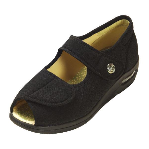 マリアンヌ製靴 彩彩~ちりめん~ W1103 婦人用25 5cm ブラック 黒OXiPkZu