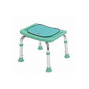 テツコーポレーション シャワーチェア (イス 椅子) コンパクトミニ 背もたれなし・クッション付き /T-6605-2 マスカットグリーン 緑