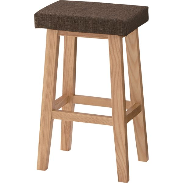 ハイスツール イス バーチェア 椅子 カウンターチェア バンビ 木製 高さ60cm CL-789CBR ブラウン 茶