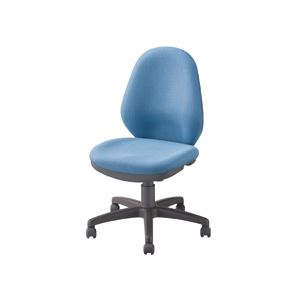 OAチェア 事務用 椅子 オフィス イス ハイバック 高い背もたれ (布・ブルー) 青