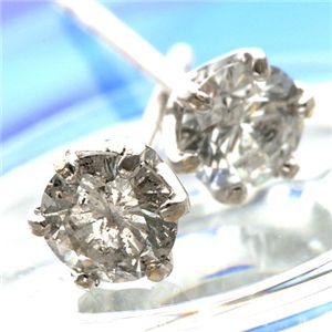 K18WG 0.3ctダイヤモンドピアス