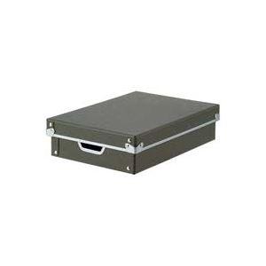 (業務用8セット)ジョインテックス 紙製整理 収納 ケース・フタ付浅型A4 B774J