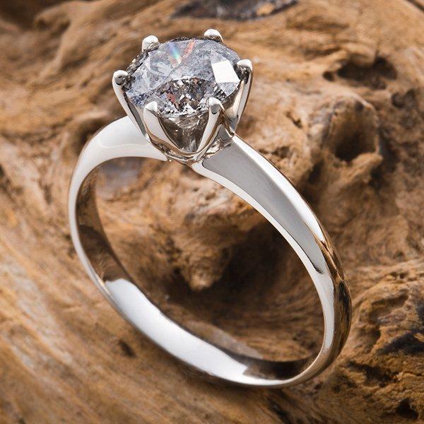 プラチナPt900 1.2ctダイヤリング 指輪 21号(鑑別書付き)
