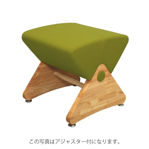 デザイナーズスツール イス バーチェア 椅子 カウンターチェア キャスター付 移動可能 車輪付き き クリア(布:グリーン/エラストマー)【Mona.Dee】モナディー WAS01SC 緑