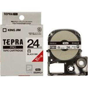 キングジム テプラ PROテープ/ラベルライター用テープ 【24mm】 20個入り ロングタイプ SS24KL ホワイト(白)
