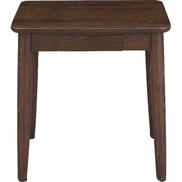 サイドテーブル エンドテーブル コーナーテーブル 小型 脇台 机 【モタ】 木製 引き出し整理 収納付き HOT-334BR ブラウン 茶