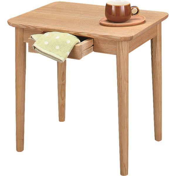 サイドテーブル エンドテーブル コーナーテーブル 小型 脇台 机 【モタ】 木製 引き出し整理 収納付き HOT-334NA ナチュラル