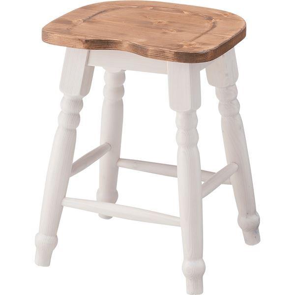 脚付きスツール イス バーチェア 椅子 カウンターチェア 【Midi】(ミディ) 木製 高さ45cm CFS-213