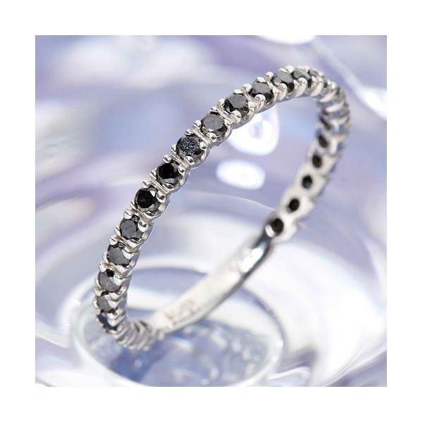 0.5ctブラックダイヤリング 指輪 エタニティリング 19号 黒