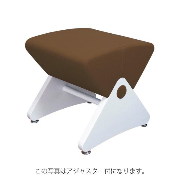 デザイナーズスツール イス バーチェア 椅子 カウンターチェア キャスター付 移動可能 車輪付き き ホワイト(布:ブラウン/ナイロン)【Mona.Dee】モナディー WAS01SC 白 茶