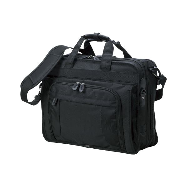 クラウン 多機能ビジネスバッグ CR-BB730-B 黒 1個