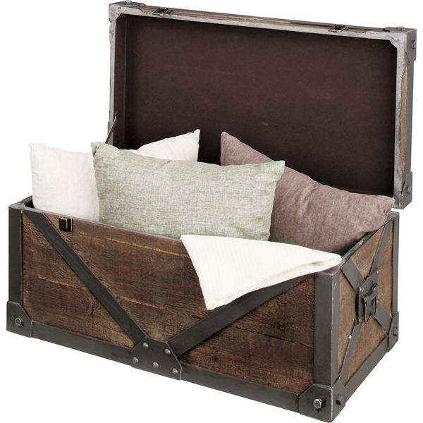 《Traver Furniture》ビンテージ風スタイル トランクL IW-983