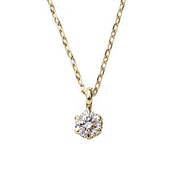 ダイヤモンド ネックレス 一粒 K18 ピンクゴールド 0.1ct ダイヤネックレス シンプル ペンダント