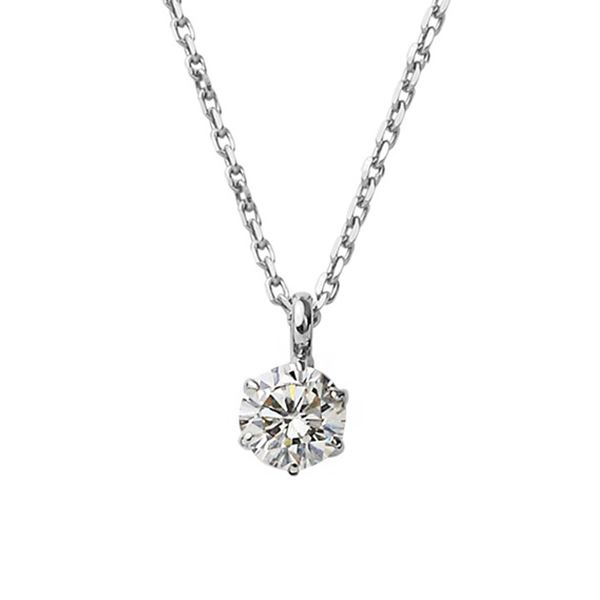 ダイヤモンド ネックレス 一粒 K18 ホワイトゴールド 0.2ct ダイヤネックレス シンプル ペンダント 白