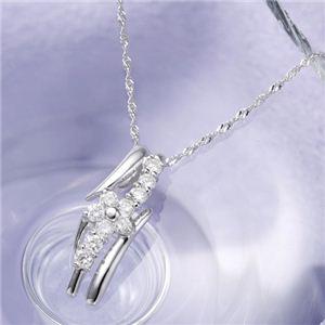 18金ホワイトゴールド(K18WG) ダイヤモンドペンダント/ネックレス 白