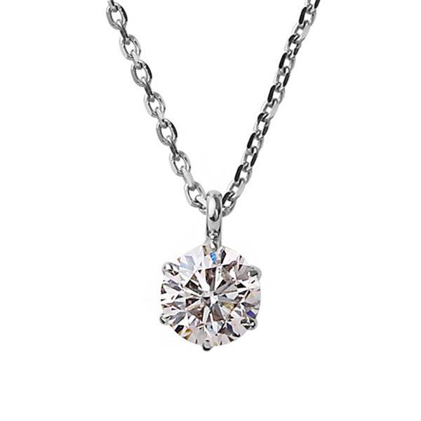 ダイヤモンド ネックレス 一粒 K18 ホワイトゴールド 0.3ct ダイヤネックレス シンプル ペンダント 白