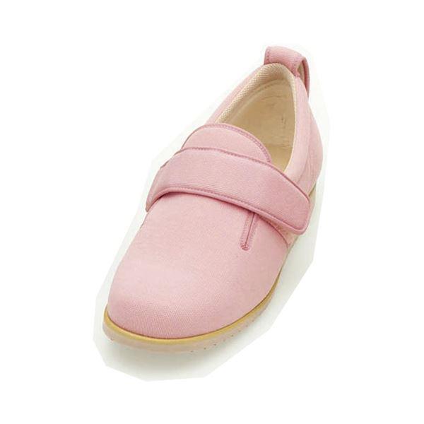介護靴 施設・院内用 ダブルマジック2 7E(ワイドサイズ) 7006 両足 徳武産業 あゆみシリーズ /LL (24.0~24.5cm) ピンク