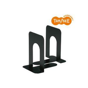 (まとめ)TANOSEE ブックエンド T型 大 ブラック 20組 黒