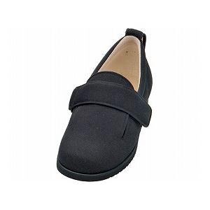 介護靴 施設・院内用 ダブルマジック2 11E(ワイドサイズ) 7029 両足 徳武産業 あゆみシリーズ /L (23.0~23.5cm) ブラック 黒