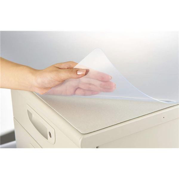 デスク (テーブル 机) マット 再生オレフィン1.5mm厚 1090×690mm グレーマット付