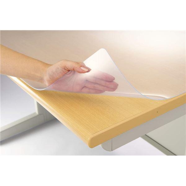 デスク (テーブル 机) マット 再生オレフィン1.5mm厚 1390×590mm シングルタイプ