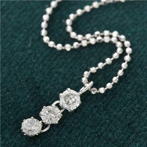 純プラチナ 0.25ct3ストーンダイヤモンドペンダント/ネックレス