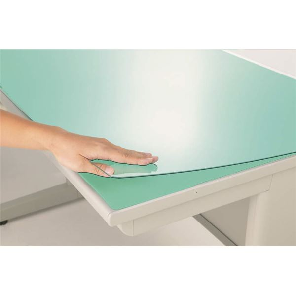 再生アクリルデスク (テーブル 机) マット(グリーンマット付) 1045×715×2mm 緑