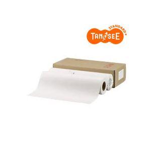 TANOSEE PPC パソコン ・LEDプロッタ用普通紙ロール A0(841mm×150m) 素巻き 1箱(2本)