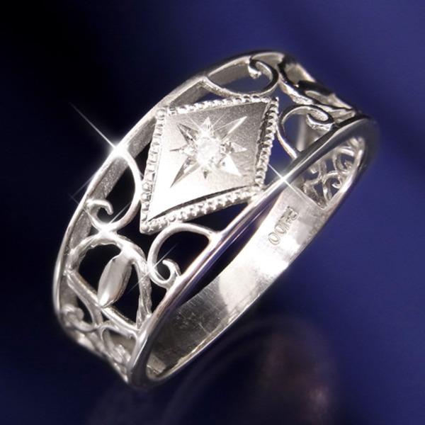 アンティーク レトロ ヴィンテージ ダイヤリング 指輪 19号