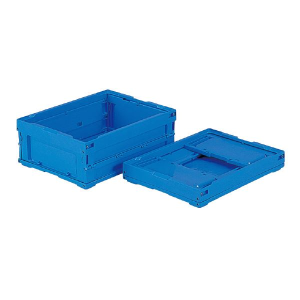 (業務用10個セット)三甲(サンコー) 折りたたみコンテナボックス/オリコン 【18L】 18B ブルー(青) 【フタ別売り】【代引不可】